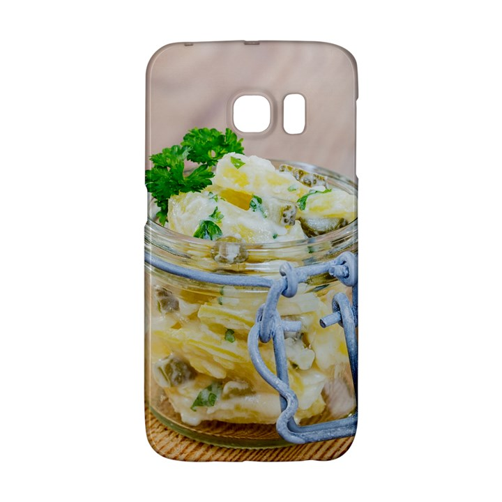 Potato salad in a jar on wooden Galaxy S6 Edge