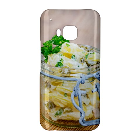 Potato salad in a jar on wooden HTC One M9 Hardshell Case