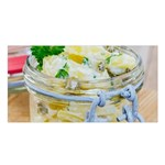 Potato salad in a jar on wooden Satin Shawl Front