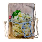 Potato salad in a jar on wooden Drawstring Bag (Large) Front