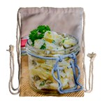 Potato salad in a jar on wooden Drawstring Bag (Large) Back