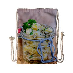 Potato Salad In A Jar On Wooden Drawstring Bag (small)