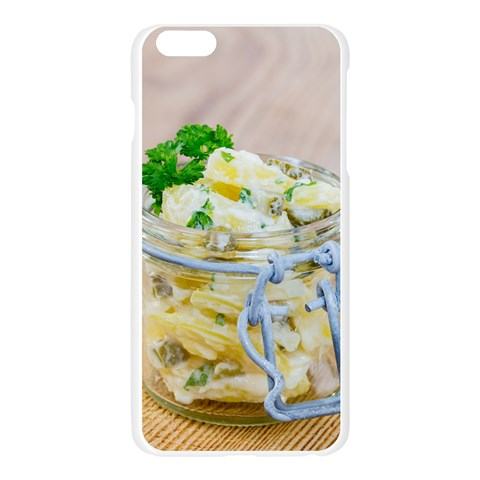 Potato salad in a jar on wooden Apple Seamless iPhone 6 Plus/6S Plus Case (Transparent)
