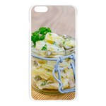 Potato salad in a jar on wooden Apple Seamless iPhone 6 Plus/6S Plus Case (Transparent) Front