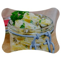 Potato Salad In A Jar On Wooden Jigsaw Puzzle Photo Stand (bow)