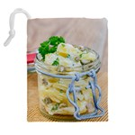 Potato salad in a jar on wooden Drawstring Pouches (Extra Large) Back