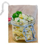 Potato salad in a jar on wooden Drawstring Pouches (XXL) Back