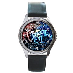 Pierce The Veil Quote Galaxy Nebula Round Metal Watch