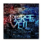 Pierce The Veil Quote Galaxy Nebula Tile Coasters Front