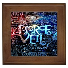 Pierce The Veil Quote Galaxy Nebula Framed Tiles