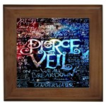 Pierce The Veil Quote Galaxy Nebula Framed Tiles Front