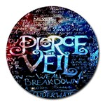 Pierce The Veil Quote Galaxy Nebula Round Mousepads Front