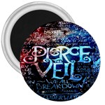 Pierce The Veil Quote Galaxy Nebula 3  Magnets Front