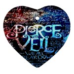 Pierce The Veil Quote Galaxy Nebula Ornament (Heart)  Front