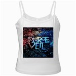 Pierce The Veil Quote Galaxy Nebula White Spaghetti Tank Front