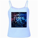 Pierce The Veil Quote Galaxy Nebula Baby Blue Spaghetti Tank Front