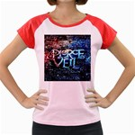 Pierce The Veil Quote Galaxy Nebula Women s Cap Sleeve T-Shirt Front