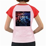 Pierce The Veil Quote Galaxy Nebula Women s Cap Sleeve T-Shirt Back