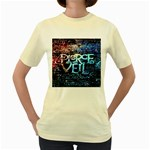 Pierce The Veil Quote Galaxy Nebula Women s Yellow T-Shirt Front
