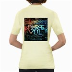 Pierce The Veil Quote Galaxy Nebula Women s Yellow T-Shirt Back