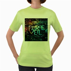 Pierce The Veil Quote Galaxy Nebula Women s Green T-Shirt