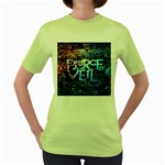 Pierce The Veil Quote Galaxy Nebula Women s Green T-Shirt Front