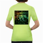 Pierce The Veil Quote Galaxy Nebula Women s Green T-Shirt Back