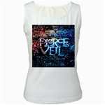 Pierce The Veil Quote Galaxy Nebula Women s White Tank Top Front