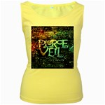 Pierce The Veil Quote Galaxy Nebula Women s Yellow Tank Top Front