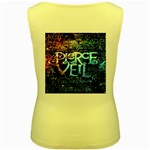 Pierce The Veil Quote Galaxy Nebula Women s Yellow Tank Top Back