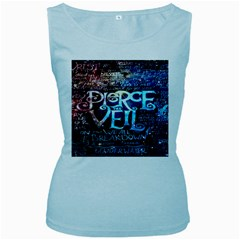 Pierce The Veil Quote Galaxy Nebula Women s Baby Blue Tank Top