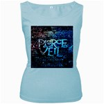 Pierce The Veil Quote Galaxy Nebula Women s Baby Blue Tank Top Front