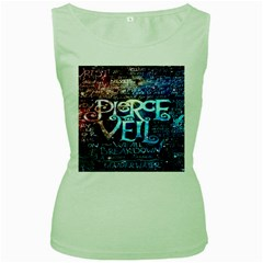 Pierce The Veil Quote Galaxy Nebula Women s Green Tank Top