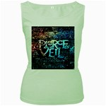 Pierce The Veil Quote Galaxy Nebula Women s Green Tank Top Front