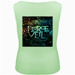 Pierce The Veil Quote Galaxy Nebula Women s Green Tank Top Back