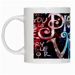 Pierce The Veil Quote Galaxy Nebula White Mugs Left
