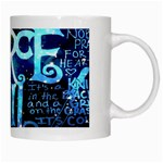 Pierce The Veil Quote Galaxy Nebula White Mugs Right