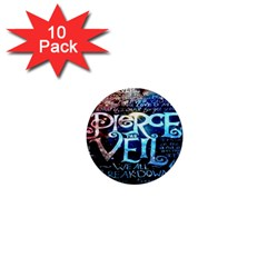 Pierce The Veil Quote Galaxy Nebula 1  Mini Buttons (10 pack)