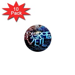 Pierce The Veil Quote Galaxy Nebula 1  Mini Magnet (10 Pack)