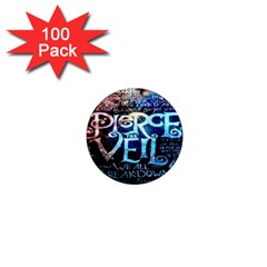 Pierce The Veil Quote Galaxy Nebula 1  Mini Magnets (100 Pack)