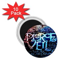 Pierce The Veil Quote Galaxy Nebula 1.75  Magnets (10 pack)
