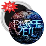 Pierce The Veil Quote Galaxy Nebula 3  Magnets (100 pack) Front