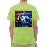 Pierce The Veil Quote Galaxy Nebula Green T-Shirt Back