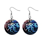 Pierce The Veil Quote Galaxy Nebula Mini Button Earrings Front