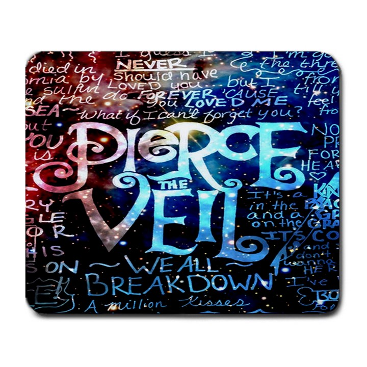 Pierce The Veil Quote Galaxy Nebula Large Mousepads