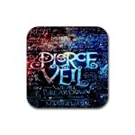 Pierce The Veil Quote Galaxy Nebula Rubber Coaster (Square)  Front