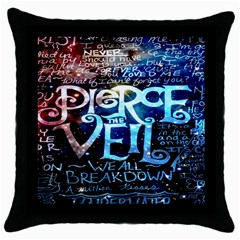 Pierce The Veil Quote Galaxy Nebula Throw Pillow Case (black)