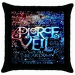 Pierce The Veil Quote Galaxy Nebula Throw Pillow Case (Black) Front