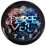 Pierce The Veil Quote Galaxy Nebula Wall Clocks (Black) Front