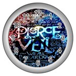 Pierce The Veil Quote Galaxy Nebula Wall Clocks (Silver)  Front